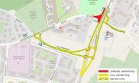 Zmiany w rejonie skrzyżowania ulicy Bulońskiej z ulicą Myśliwską